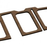 "Laser Cut 3/8"" Mahogany Wing Part"