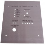 Laser Cut and StayMark&#x2122&#x3B; Laser Marked 18 Gauge Stainless Steel Panel