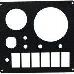 "Laser Cut 3/16"" ABS Plastic Control Panel"