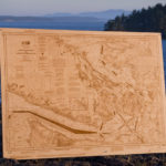 "Laser Cut and Laser Engraved 3/8"" Baltic Birch Plywood Nautical Chart"