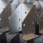 Laser Cut and Metal Formed 16 Gauge Galvanized Steel Brackets