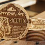 "Laser Cut and Laser Engraved 1/8"" Birch Plywood Coasters"