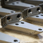 Laser Cut and Metal Formed 14 Gauge Stainless Steel Bracket with Countersink Holes
